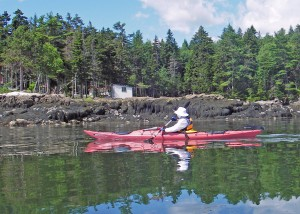 "A kayak of her own. Marilyn Donnelly quickly claimed ""her"" Perception Corona sea kayak for expeditions along the Maine coast near Harpswell. As she discovered, paddling a sea kayak is easy and fun,"