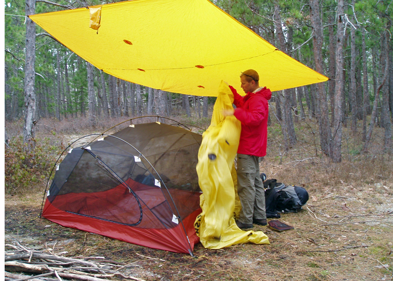 When the tent ... & How To: Rain Camping Tips
