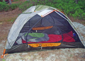 For going light and still having plenty of room, the REI Quarter Dome tents are a good choice.