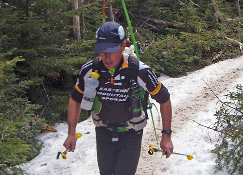 This racer in the Tuckerman Inferno is struggling to stay cool—but when he stops to put on those skis he's going to chill quickly. The right long underwear helps you stay comfortable through extremes.