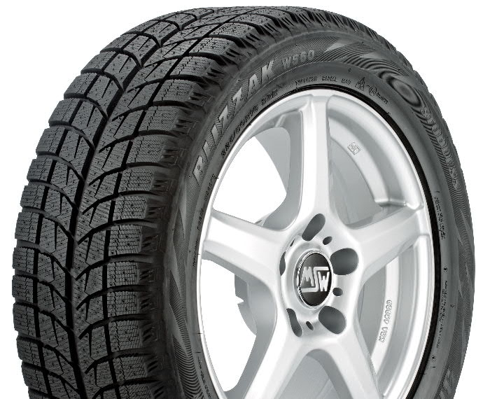 Here's the real thing.  The Bridgestone Blizzak has both a more agressive tread designed for grip in snow, but also has a soft tread compound that sticks to ice, helping you with acceleration, cornering, and most important, BRAKING. (Tire Rack photo)