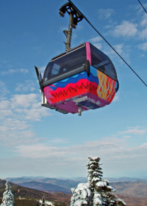 As the fall foliage fades, Killington's gondola adds color! (Brett Lund photo)