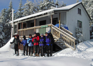 "Happy New Year! The only sad part of this New Year's celebration was leaving the AMC's High Cabin on Cardigan Mountain in New Hampshire and snowshoeing back to ""civilization."" Photo by David Shedd"