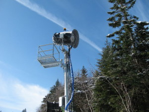 Like a vulture, waiting to pounce on the slopes...(Mount Snow photo)