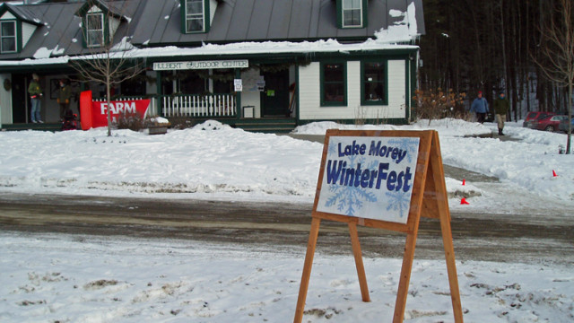 This way to family winter fun at the Hulbert Outdoor Center in Fairlee, Vermont