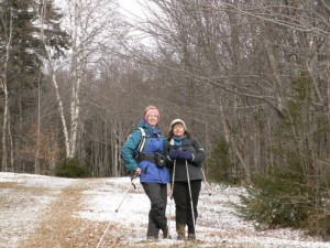 Barbara Thomke and Pat Lyon-Surrey so on one of their adventures for EasternSlopes.com. . .