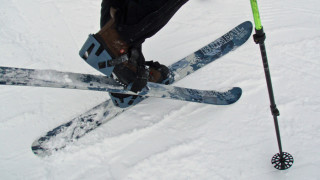 The L.L. Bean Boreal Sliding snowshoes are the lightest of the test. (Tim Jones photo)