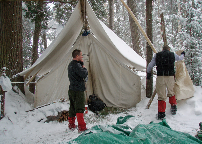 Winter Camping Tents : Dogsled adventure winter camping with mahoosuc guide service
