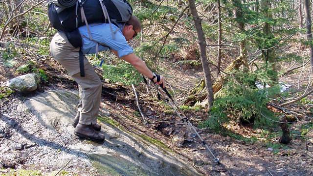 Trekking poles, spring hike