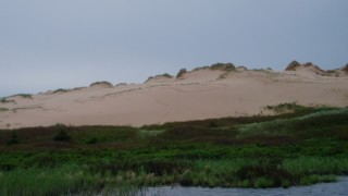 One of the dunes, with marsh in the foreground (Warner Shedd Photo)