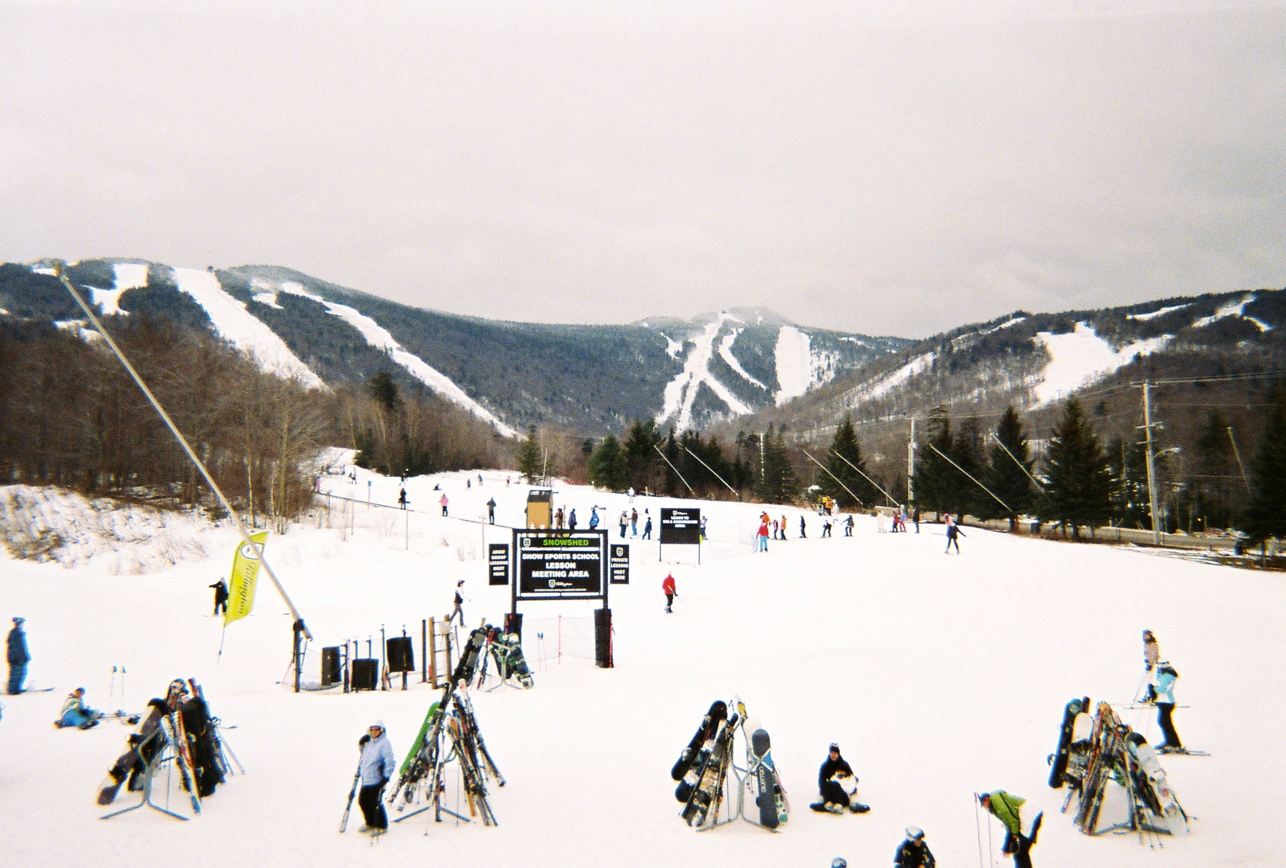 Alpine ski resorts plagued by lack of snow - Killington Mountain Taken From The Ramshead Lodge Caroline Mcdonald Photo