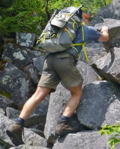 Thoughtful gear attachment points made the Lutsen 45 a favorite for rock scrambling. (EasternSlopes.com)