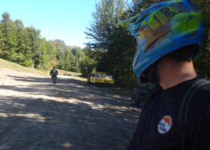 """Many of the bikers we saw were taking the easiest """"green circle"""" trail and just enjoying the ride. (Tim Jones/EasternSlopes.com)"""