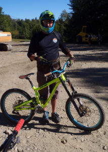 Instructor Will took the time to show me how to make the most of the unfamiliar features on a downhill Mountain Bike. (Tim Jones/EasternSlopes.com)
