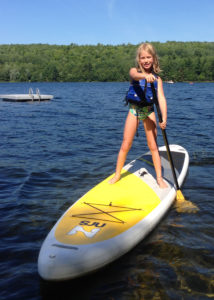For this summer, a paddleboard was a (somewhat) more successful way to introduce my daughters to the joys of paddling (Jayson Seamans/EasternSlopes.com)