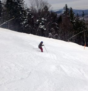 Sunday River's American Express with soft moguls