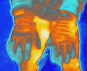 FLIR One thermal imaging test of Outdoor Research Lodestar Sensor and Stormchaser gloves.