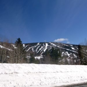 Mont Miller from the road on a perfect bluebird day