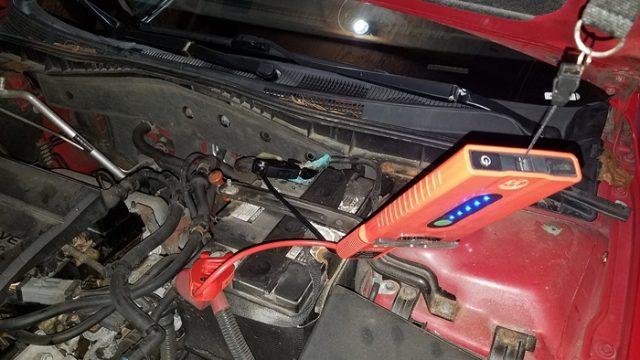Weego 22 jump starting a Mazda 6
